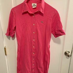 Lacoste button up dress size 38